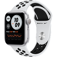 Apple Watch Nike Series 6, 40 мм, корпус из алюминия серебристого цвета, спортивный ремешок Nike, фото 1