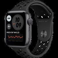 Apple Watch Nike Series 6, 44 мм, корпус из алюминия цвета «серый космос», спортивный ремешок Nike, фото 1