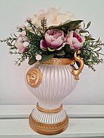 Композиция из искусственных цветов+ ваза, высота 45 см