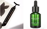 Комплект импульсный вибромассажер для лица Pulse Beauty Bar и аргановое масло