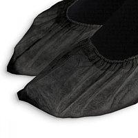 Носки одноразовые для сменной обуви в индивидуальной упак. Черные