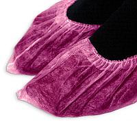 Носки одноразовые для сменной обуви в индивидуальной упак. Розовые