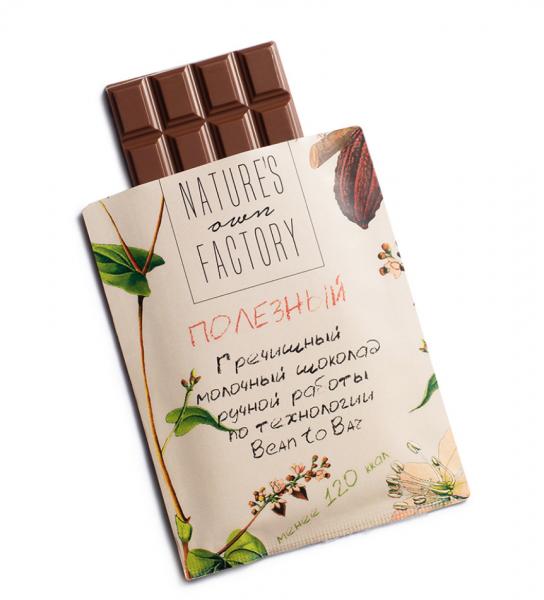 Nature's own factory Молочный шоколад с гречишным чаем - фото 2