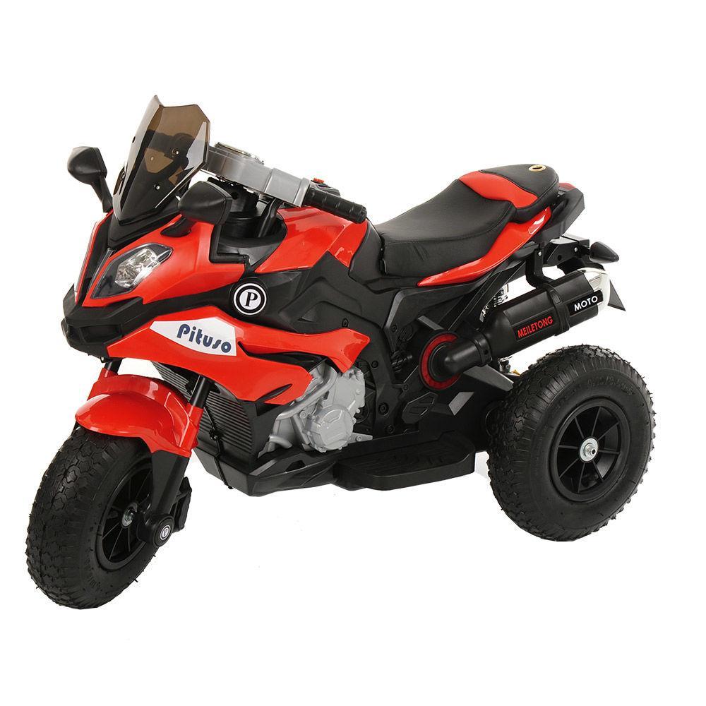 Детский электро-мотоцикл PITUSO HLX2018/2, 12V/7Ah*1,колеса надув.,108х46х76 см, Red/ Красный (музыка,свет)