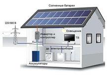 Сетевая солнечная электростанция на 1 кВт/час