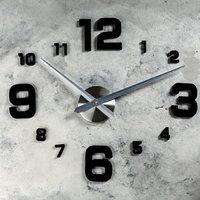 Часы-наклейка DIY 'Эндерлин', чёрные, 120 см ( механизм)