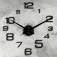 Часы-наклейка DIY 'Мита', чёрные, (механизм) 120 см