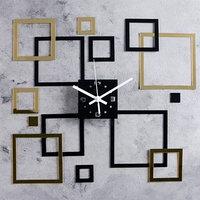 Часы-наклейка DIY 'Квадратиш' d15 см, плавный ход, тип батарейки 1 АА