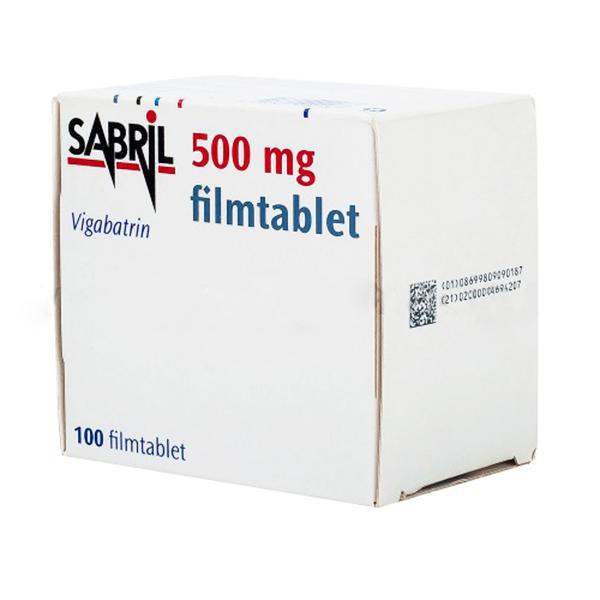 """Сабрил (Вигабатрин-Vigabatrin) 500 мг №100 таб., """"Санофи"""", Франция (Европа)"""