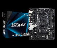AMD AM4 A520 ASRock 2DDR 3200 4SATA M.2. VGA HDMI mATX (A520M-HVS), фото 1