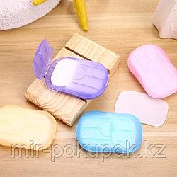 Листовое твердое мыло для путешествий (1 шт по 20 листов гигиенический набор)