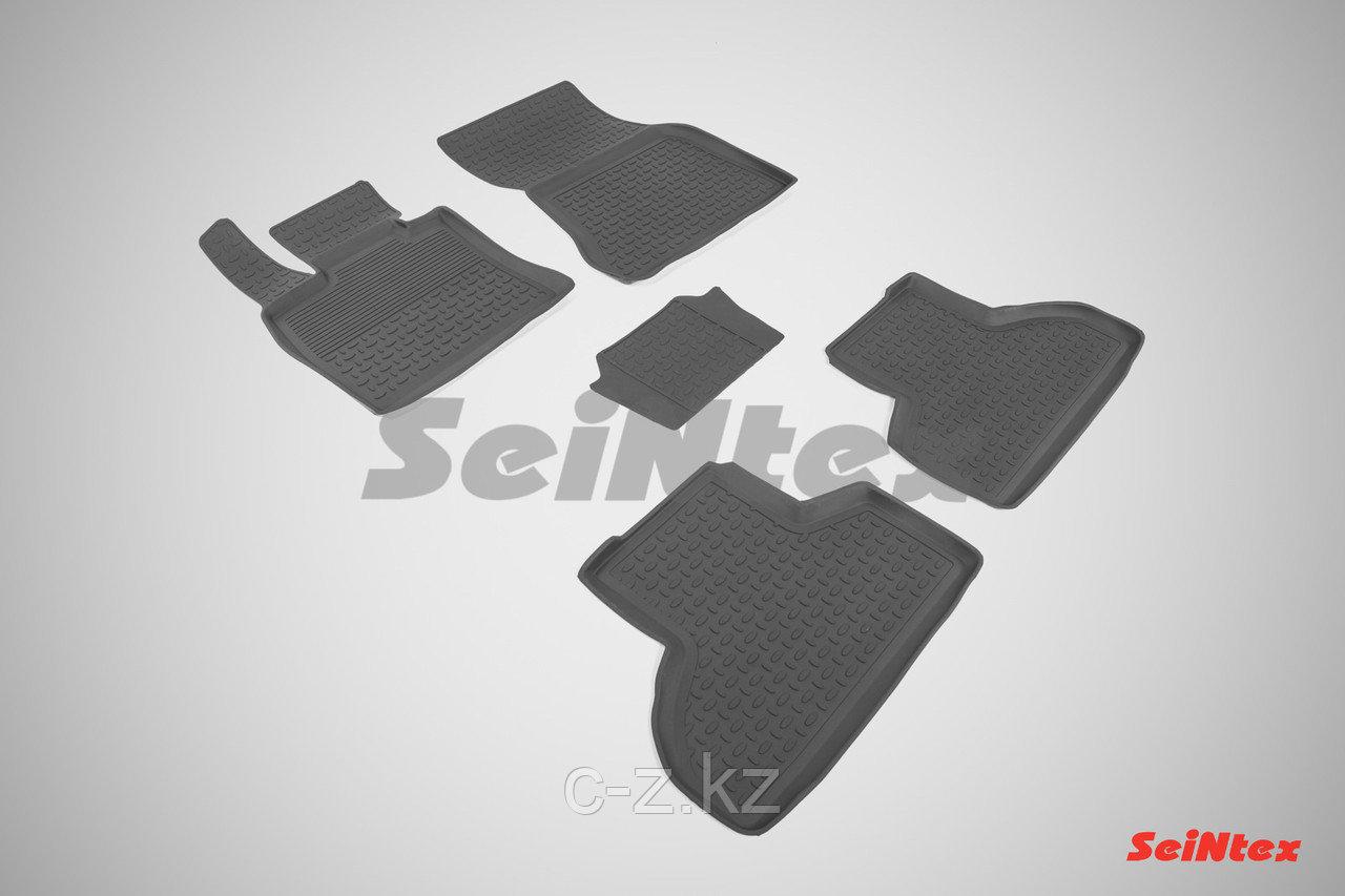 Резиновые коврики с высоким бортом для BMW X6 F-16 2014- н.в.