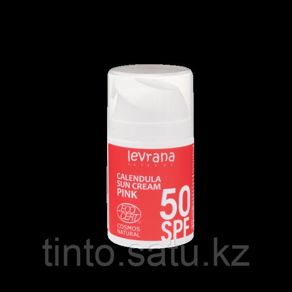 Солнцезащитный крем для лица и тела Календула, SPF50 PINK, 50 мл. Леврана