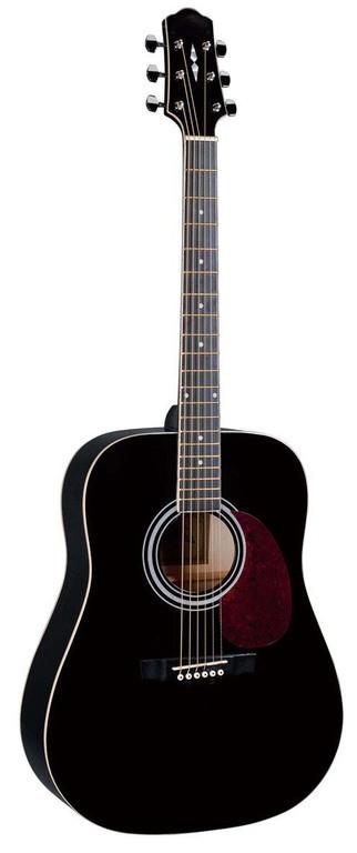 Акустическая гитара с вырезом Naranda DG120BK