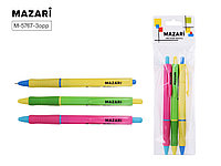 Набор шариковых ручек автомат. 3цв Mazari M-5767-3 0.7мм