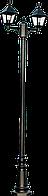 Парковый свет-к NAPOLI Sv-k RH025P/2-L 2.53M MATT BLACK+Truba