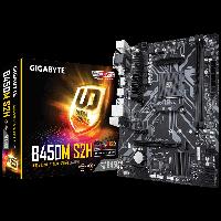 AMD AM4 B450 Gigabyte 2DDR 3200 4SATA M.2 DVI VGA HDMI mATX (B450M S2H), фото 1