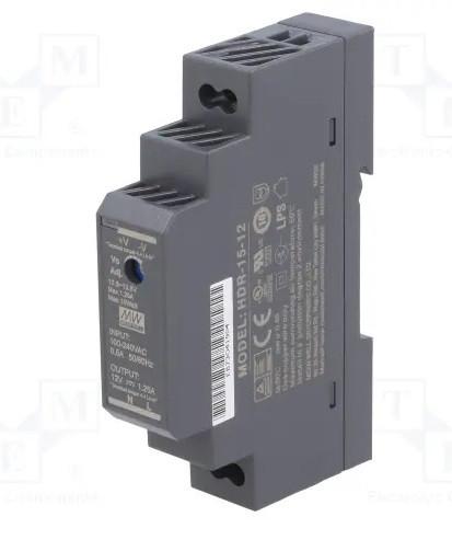 Блок питания Mean Well HDR-15-12