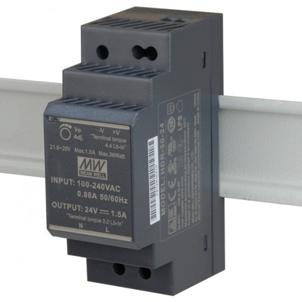 Блок питания Mean Well HDR-30-24
