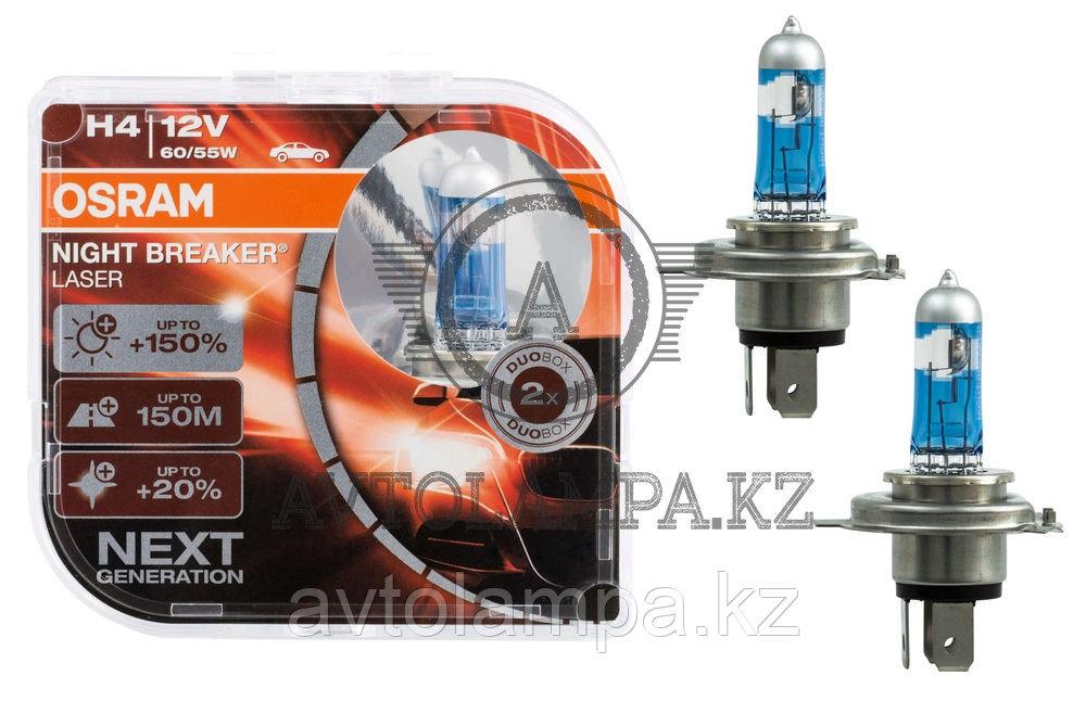 "64193NL-HCB Лампа ""+150%"" света H4 12V 60/55W P43t NIGHT BREAKER LASER 1Х блистер - фото 1"