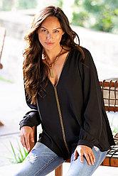 Karen Kane Женская блуза с V-образным вырезом и заклепками 2000000392134
