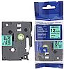 Лента TZe-731, OEM, черным на зеленом , для принтеров Brother PT-1010,  PT-1280VP, PT-D200VP, PT-E100VP и пр.