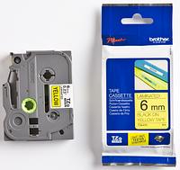 Лента TZe-611, черным на желтом , для принтеров Brother PT-1010, PT-1280VP, PT-D200VP, PT-E100VP и пр.
