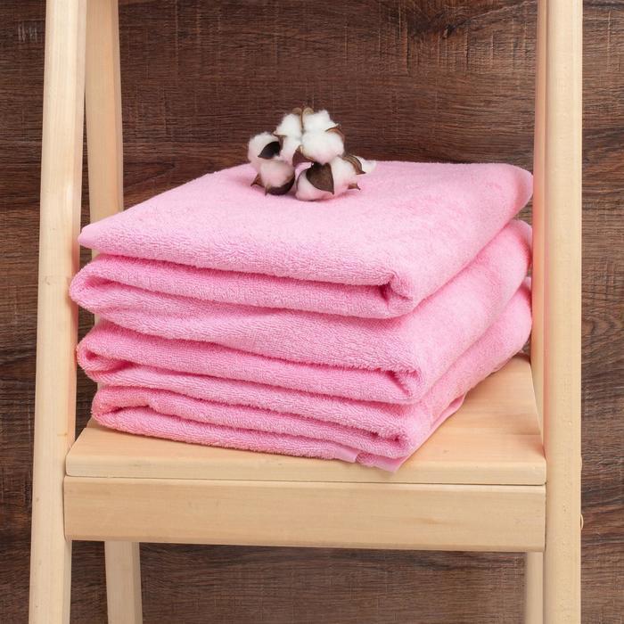 Простыня махровая гладкокрашенная 190х200 см, цвет розовый