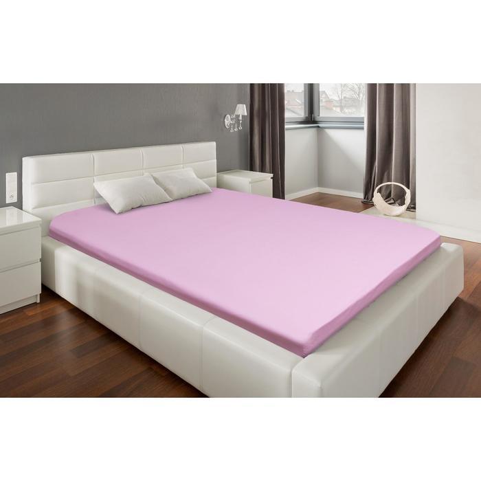 Простыня на резинке Этель 140*200*25 см, цв. розовый, 100% хлопок, перкаль,130 г/м²