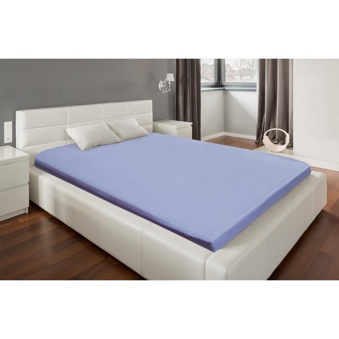 Простыня «Этель» 180х215 см, цвет фиолетовый, мако-сатин, 125 г/м²