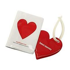 Обложка на паспорт и багажная бирка Littledesire Love, комбинированная