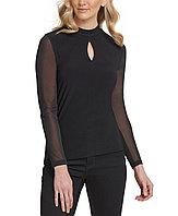 Dkny Женская блуза сетчатые рукава 2000000392523