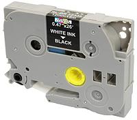 Лента TZe-335, OEM, белым на черном, для принтеров Brother PT-1010, PT-1280VP, PT-D200, PT-E100 и пр.