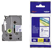 Лента TZe-223, синим на белом , 9мм, для принтеров Brother PT-1010,  PT-1280VP, PT-D200VP, PT-E100VP и пр.