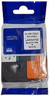 Лента TZe-221, ОЕМ, черным на белом, для принтеров Brother PT-1010,  PT-1280VP, PT-D200VP, PT-E100VP и пр.