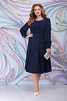 Женское осеннее шифоновое синее большого размера платье Ninele 2270 синий 54р.
