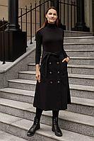 Женская осенняя джинсовая черная юбка Legend Style S-009 черный 44р.