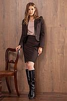 Женская осенняя коричневая юбка Nova Line 3635 коричневый 42р.