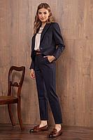 Женские осенние трикотажные синие брюки Nova Line 4773 синий 42р.