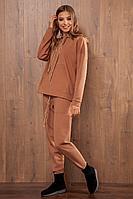 Женские осенние трикотажные коричневые спортивное брюки Nova Line 4774 коричневый 42р.
