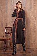 Женское осеннее трикотажное черное нарядное платье Nova Line 50008 42р.