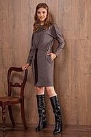 Женское осеннее коричневое нарядное платье Nova Line 50013 коричневый 42р.