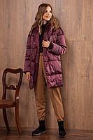 Женское зимнее фиолетовое пальто Nova Line 10059 слива 42р.