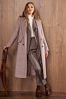 Женское осеннее драповое бежевое пальто Nova Line 10105 капучино 42р.