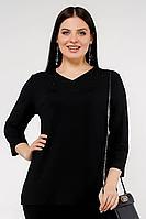 Женский осенний трикотажный черный большого размера джемпер La rouge 3139 черный 50р.
