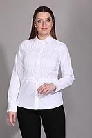 Женская осенняя хлопковая белая деловая блуза La Prima 0180 44р.