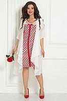 Женский осенний шифоновый нарядный большого размера комплект с платьем Solomeya Lux 454А-737 50р.