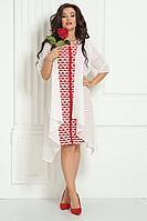 Женский осенний шифоновый нарядный большого размера комплект с платьем Solomeya Lux 426А-737 50р.