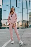 Женский осенний трикотажный розовый спортивный спортивный костюм Sharm-Art 2074/1 44р.