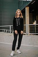 Женский осенний трикотажный черный спортивный спортивный костюм Sharm-Art 2074/2 44р.